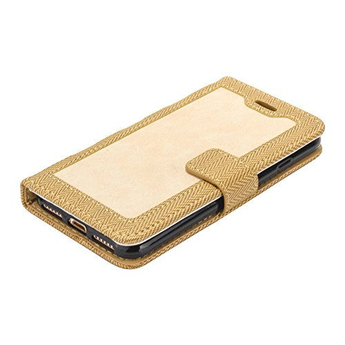 iPhone 5S Hülle Muster, TOCASO Ultra Grau Thin PU Leder Flip Cover Tasche Ledertasche Handytasche Bunte Pattern Schutzhülle für iPhone SE 5 5S Buchstil Handyhülle Protective Case Etui Bumper Schale Wa Golden