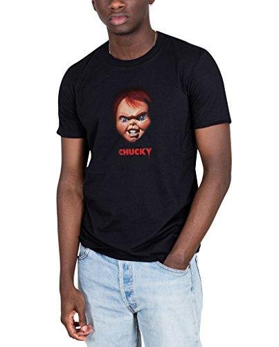 ll Kinder Play Chucky Unisex T-Shirt Slasher Film Horror Gut Mann - Schwarz, Large (Chucky-shirt Für Kinder)
