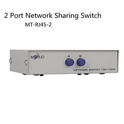 Milkee 2Puerto RJ45 Conmutador Dispositivo Compartido