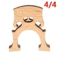 ACHICOO Professional Cello Bridge for 4/4 3/4 1/2 1/4 1/8 Size Cello Exquisite Wooden Material Wood color 4/4