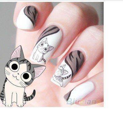 Kompletter Wrap Nail Art Wasser Transfer Aufkleber Sticker Katze - XF1253 Nail Sticker Tattoo - FashionLife