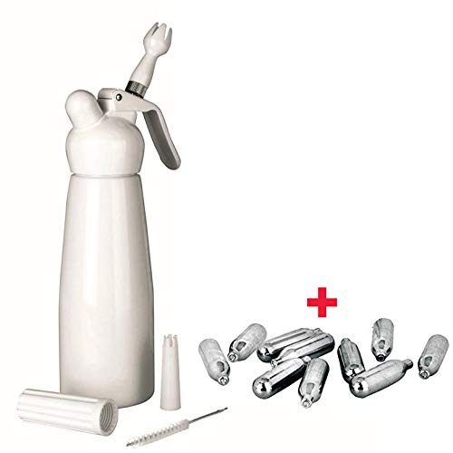 Bricolemar IBILI - Kit sifon Cocina espumas Blanco Aluminio 0.5l Ibili + 10 Cargas para sifon Nata Ibili...