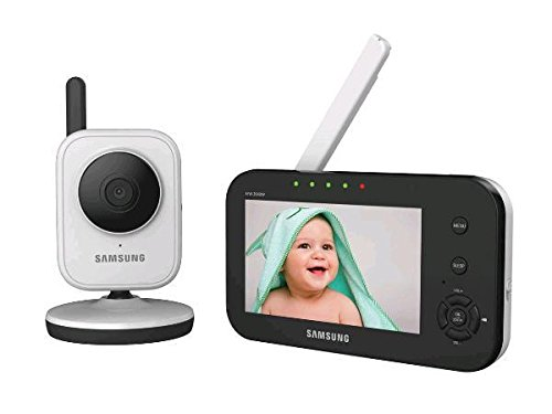 Samsung SEW-3040W SimpleVIEW Baby Monitoring System IR NIght Vision Zoom 4.3 inch