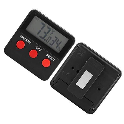 heliltd Digitales LCD-Thermometer, genaues Sensor-Draht-Hygrometer-Luftfühler-Temperatur-Feuchtigkeits-Messgerät für Innenaußen