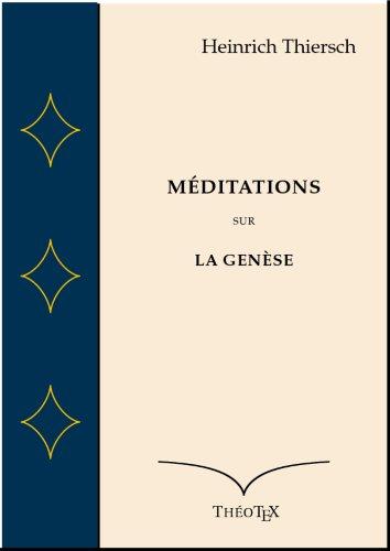 Méditations sur la Genèse par Heinrich Thiersch