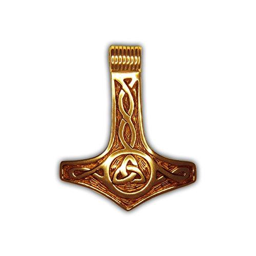 Rob Ray - Anhänger Thors Hammer und Göttin der Dreifaltigkeit - Sterling Silber 925 vergoldet - RR11