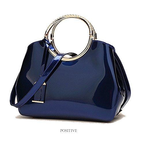 FavoMode, Borsa a mano donna arancione Orange Handbag taglia unica Orange Handbag