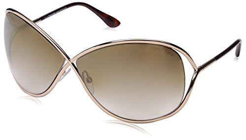 Tom Ford Für Frau 0130 Miranda Gold / Brown Gradient Metallgestell Sonnenbrillen
