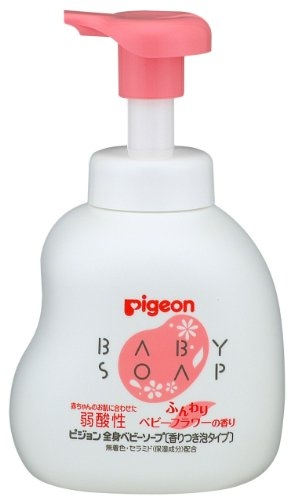 Pigeon Baby Foam Body Soap with Baby Flower Fragrance 500ml (japan import)