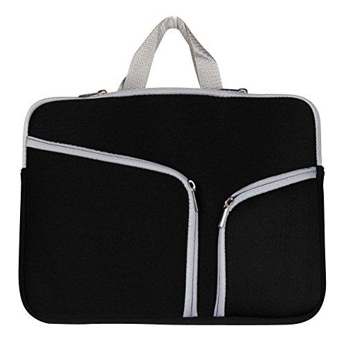 15-17 Zoll Laptoptasche Aktentaschen Handtasche Schulter tasche notebooktasche Laptop sleeve laptop hülle für Laptop Dell Alienware/Macbook/Lenovo/HP Schwarz