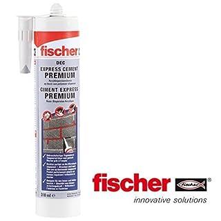 Fischer Express DEC Premium Ready-Mix Zement Repair Kartusche 310 ml, grau