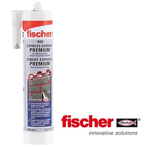 fischer-dec-express-premium-ready-mix-cement-repair-cartridge-310ml-tube-grey-by-fischer