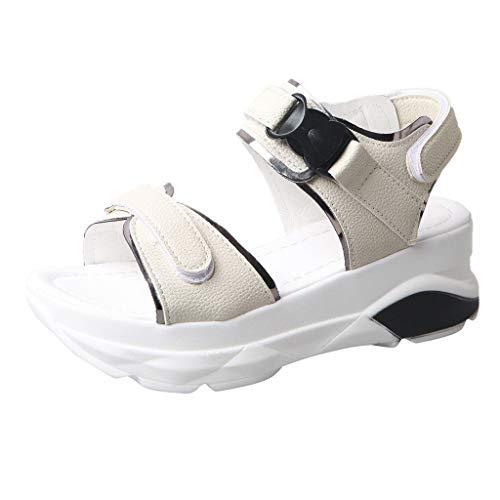 Innerternet Damen Keilabsatz Schuhe Mode Lässig Sommer Sport Sandalen Dicke Plattform Med Ferse Schuhe Freizeit Keilabsatz Schuhe Mode Lässig Sommer Sport Sandalen (Esprit Pflege Damen)