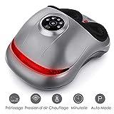 INTEY Fußmassagegerät Shiatsu Elektrisch Kneten Rollen, Heizung Luftdruck, zur Entspannung zu Hause und im Büro, 5 Intensitätsstufen, 2 Modi - Das beste Geschenk