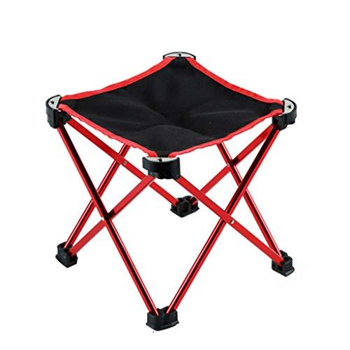 BAR STOOL Ultralight Aluminium-Legierung Rahmen tragbare Camping Klapphocker Falten Sich Anti-Riss Oxford Anti-Rutsch-Füße Outdoor Hocker Stuhl für Camping Reisen -