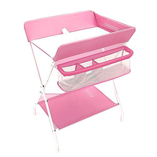 Tables à langer avec Boîte De Rangement pour Bébé Unité Portable Santé Soins du Bébé, Rose (Taille : Height-100cm)