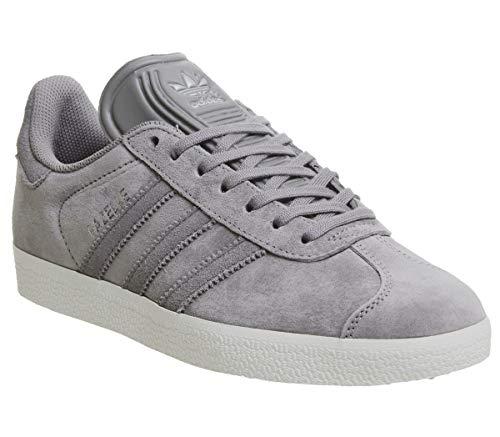 adidas Gazelle Damen Sneaker, Grau - Solid Grey Four Silver Exclusive - Größe: 4 UK