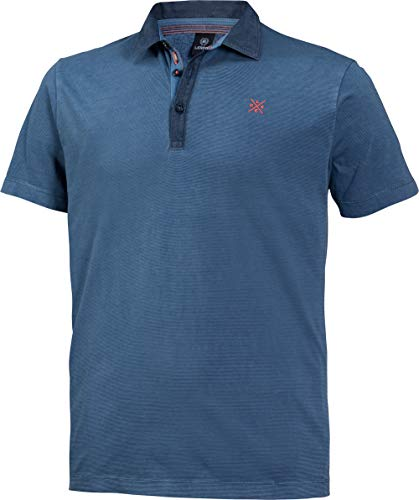 LERROS Herren Polohemd in Blau, Kurzarm-Poloshirt aus 100{dc00d5cf5d17661152ed2a950cbca0b49273f9941aed9d9c1a81b426e5ce4fd9} Baumwolle, angenehmer Modern Fit-Schnitt, Gr. 48-60