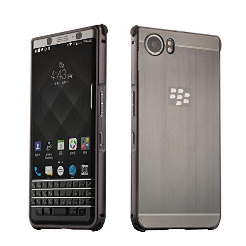 Metall Schutzhülle Alu Hard-Case Schutz Handytasche Ultra-Slim Handy-Hülle für Blackberry KEYone, Schwarz