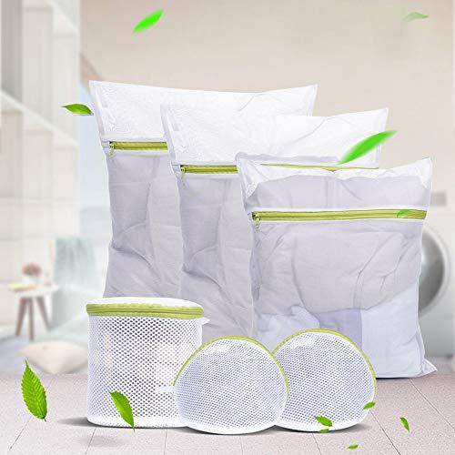 FLOXYDA 6 Größen mit Reißverschluss Mesh Wäsche waschen Taschen für zarte Dessous Socken Unterwäsche 6 Stück Unterwäsche Aid BH Socken Dessous Wäsche - Mesh-tasche Für Wäsche-waschen