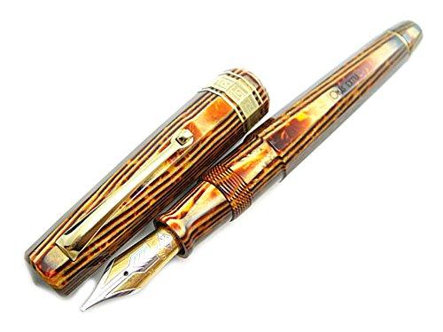 omas-arte-italiana-extra-paragon-celluloid-arco-1992-stylo-plume-o87-marron