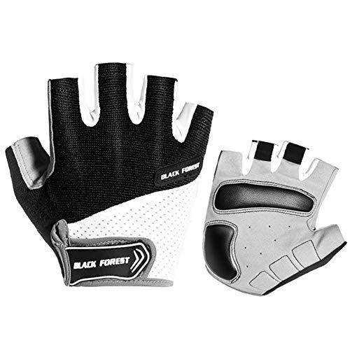 CAheadY Anti-Rutsch-Heben Sport Outdoor Fahrrad Fahrrad halbe Fingerhandschuhe Black XL