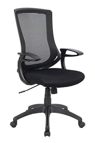 Viva Office Sedia ergonomica da ufficio con schienale in maglia, Nera
