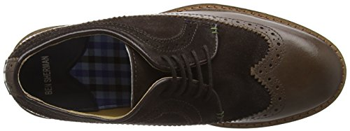 Ben Sherman Garry Peach, Scarpe Stringate Basse Brogue Uomo Marrone (Marrone (Brown))