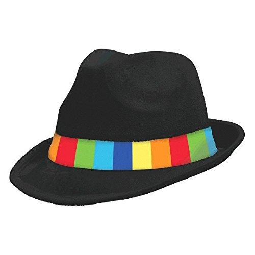 Amscan International 255519 Rainbow Fedora Hut, wie abgebildet, 12 x 30 cm, Einheitsgröße (Internationale Motto Party Kostüm)