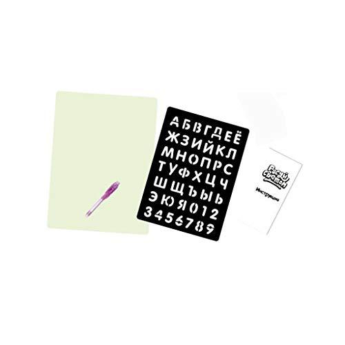 Cooljun Schreiben von Zeichenbrett, glühende Farben-Glühen-Licht-Tablette zeichnen mit hellem Spaß und Entwicklungsspielzeug (A4 / 23x32 cm)