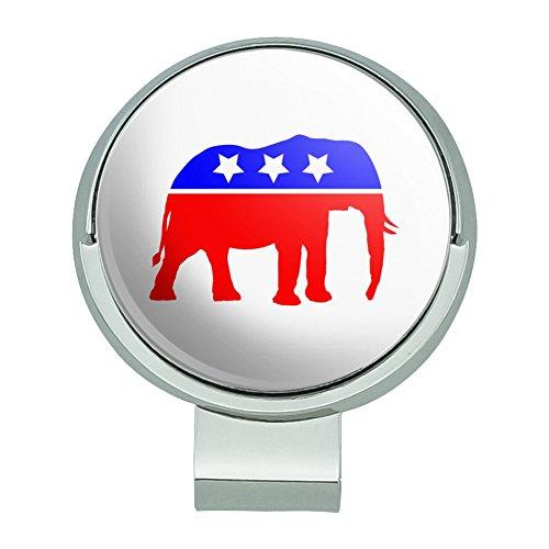 Graphics and More Republikanischen Elefant GOP Konservative America Politische Partei Golf Hat Clip mit magnetischem Ballmarker (Gop-elefant)