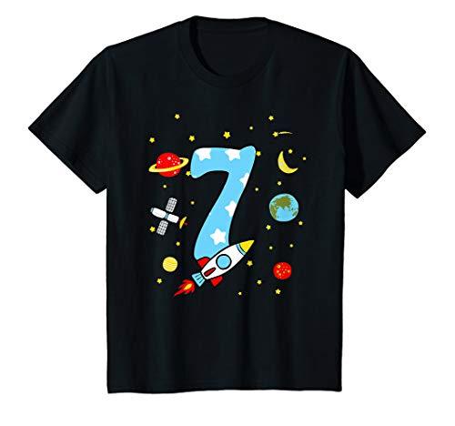 Kinder 7. Geburtstag Rakete T-Shirt Jungen 7 Jahre Shirt - 7. Geburtstags-shirt