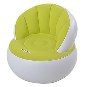 Jilong Easigo Movie Arm Chair Ø 85 x 74 cm aufblasbarer Sessel velourbeschichteter Sitzsack Sitzkissen Relax Lounge Stuhl Hocker (Sortiert - Farbauswahl Nicht Möglich)