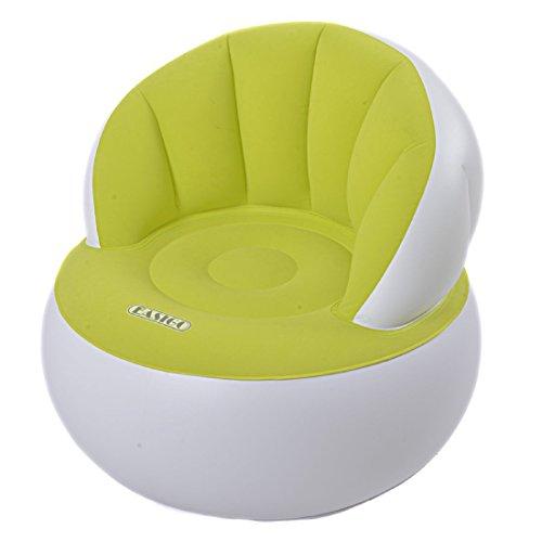 Easigo Movie Arm Chair Ø 85 x 74 cm aufblasbarer Sessel velourbeschichteter Sitzsack Sitzkissen Relax Lounge Stuhl Hocker (sortiert - Farbauswahl nicht möglich)