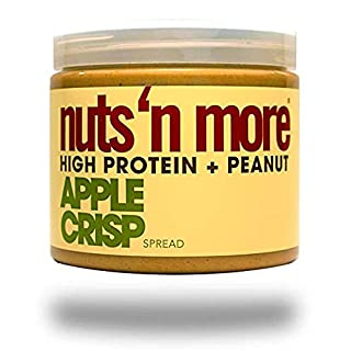 Nuts 'N More Apple Crisp Peanut Spread, High Protein, Great Tasting, All Natural Sports Nutrition, 16 oz Jar