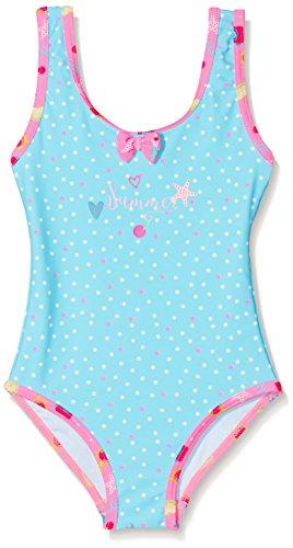 DIMO-TEX Sun Baby-Mädchen Einteiler Badeanzug UV-Schutz 50, Mehrfarbig (AOP Türkis Mit Pünktchen), 80