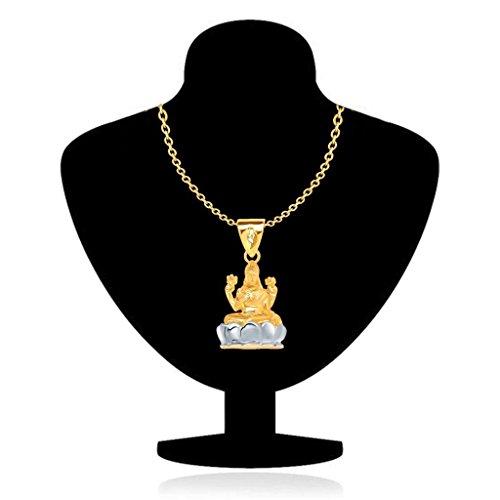 VK Jewels Goddess Lakshmi Gold and Rhodium Plated Alloy God Pendant for Men & Women -  P1258G [VKP1258G]