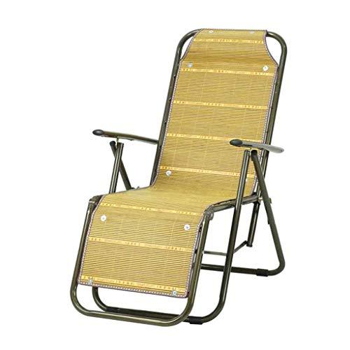 ZHENYANG Recliner Bambus Stuhl Mittagspause Bürostuhl Lounge Chair Klappstuhl