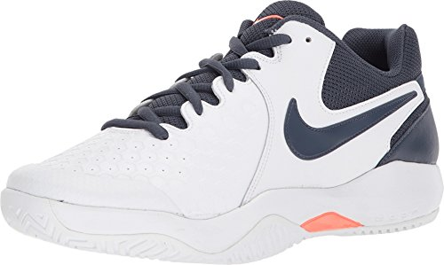 Nike Air Zoom Resistance Scarpe da Tennis Uomo, Multicolore (White/Thunder Blue/Hyper Orange 148), 43 EU