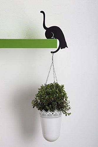 ARTORI Design AD273B - Louis' Paw - Black Metal Cat Decorative Balance Hanger by Artori Design