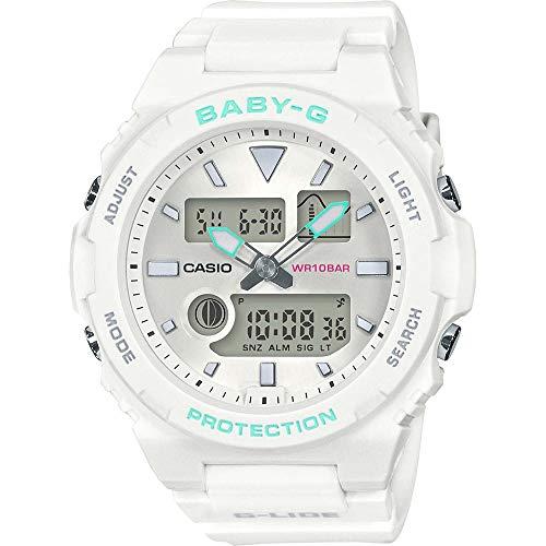 Casio Damen Analog-Digital Quarz Uhr mit Harz Armband BAX-100-7AER