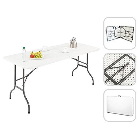 Todeco - Folding Portable Table , Heavy Duty Plastic Table