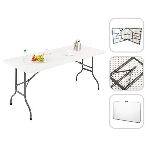 Todeco - Mesa Plegable Portátil, Mesa de Plástico Resistente - Material: HDPE...