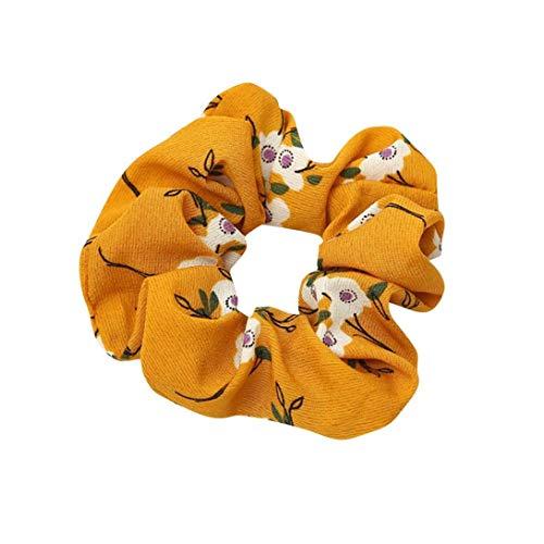 Xmiral Damen Haarband Elastisches Haar Seil Ring Krawatte Scrunchie Pferdeschwanz Inhaber Haarband Damen Stirnband (Rosa)
