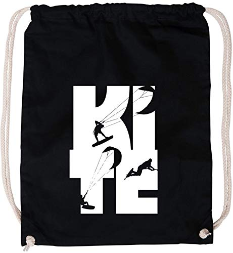 EZYshirt® Kite | Kitesurfing Baumwoll Stoffbeutel