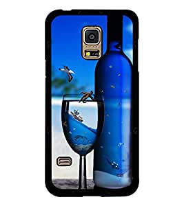 PRINTSWAG BOTTLE AND GLASS Designer Back Cover Case for SAMSUNG GALAXY S5 MINI