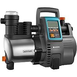 GARDENA Station de pompage 6000/6E LCD Inox Premium : pompe domestique, corps en acier inoxydable de qualité (1760-20)