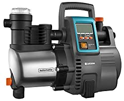 GARDENA Premium Hauswasserautomat 6000/6E LCD Inox: Hauswasserpumpe mit 6000 l/h Fördermenge, 1300 W Motor, mit LC-Display, Pumpengehäuse aus rostfreiem hochwertigem Edelstahl (1760-20), Grau/schwarz