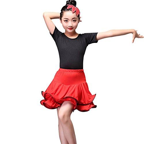 Tanzkleid Ballroom Dance Röcke Wettbewerb (Rock Star Child Kostüme)