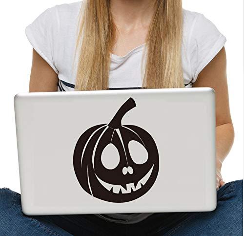 Zlywj Lustige Kürbis Gesicht Vinyl Laptop Aufkleber Für Halloween Dekoration Entfernbare Wandaufkleber Wohnkultur (Lustige Halloween-kürbis Gesicht)